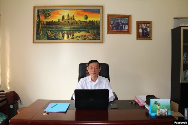 Dr. Chan Somnoble, deputy President of the Royal Academy of Cambodia and head of National Council for Khmer Language. (Courtesy photo from Facebook)