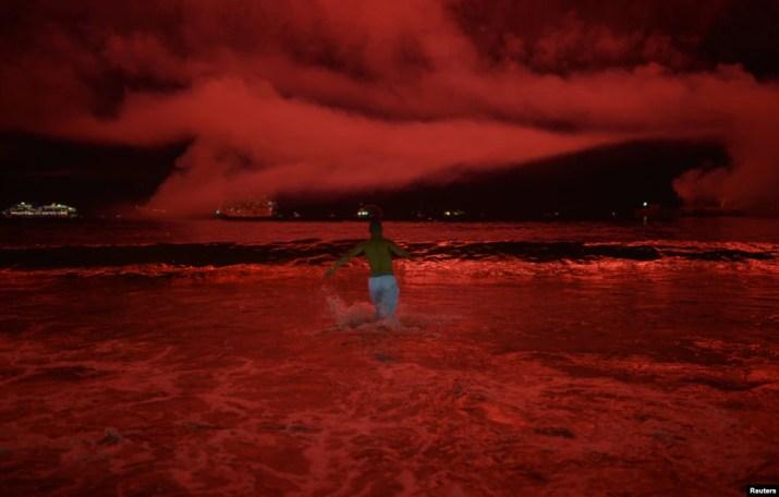 Brezilya Rio De Janeiro'da Copacabana Sahili'nde yeni yıl kutlaması