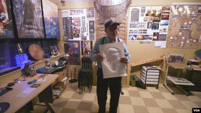 Євген Мамут в музеї анімації