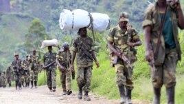 Des rebelles du M23, dans l'est de la RDC