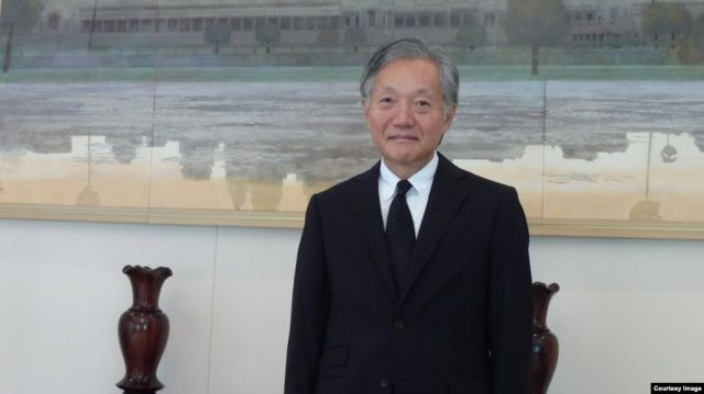 Japanese Ambassador Hidehisa Horinouchi to Cambodia poses in a photo distributed by the Japanese Embassy, November 2017, Phnom Penh, Cambodia. (Japanese Embassy Phnom Penh)