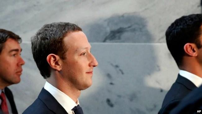 Ông Mark Zuckerberg tại Điện Capitol ngày 9/4/2018.
