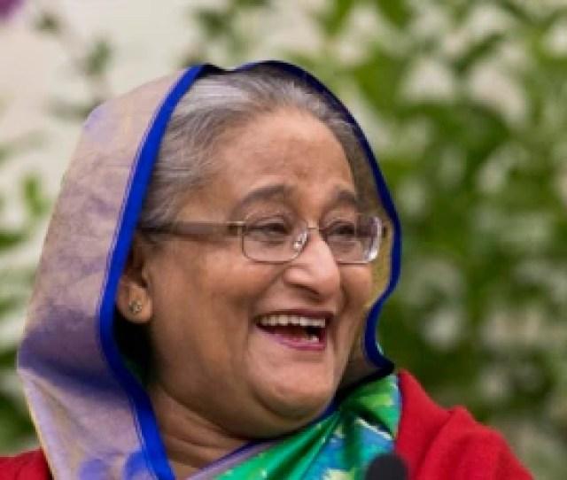 Bangladeshi Prime Minister Sheikh Hasina Interacts With Journalists In Dhaka Bangladesh Dec 31