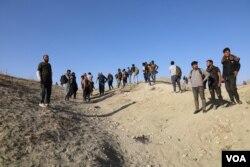 ترکی پہنچنے والا افغان مہاجرین کا ایک گروپ