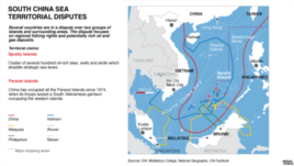 Khu vực tuyên bố chủ quyền chồng chéo của các nước trong vùng Biển Đọng