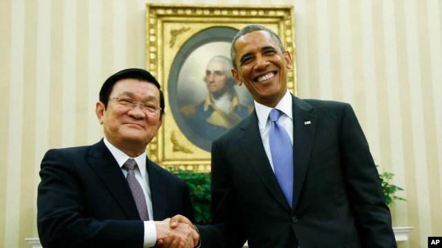 Tổng thống Barack Obama và Chủ tịch Trương Tấn Sang đánh giá cao vai trò của Việt Kiều tại Mỹ.