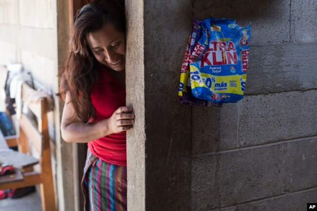 Paulina Gutierrez Alonzo, a 26-year-old Quiche indigenous woman, stands at her grandfather's house after giving an interview in Joyabaj, Guatemala, July 26, 2018. Gutierrez Alonzo was deported from United States in June and separated from her 7-year-old daughter, Antonia Yolanda Gomez Gutierrez, who is currently at an immigration center in Arizona, despite the Thursday deadline for reuniting children with their families who were caught entering the U.S. without authorization.