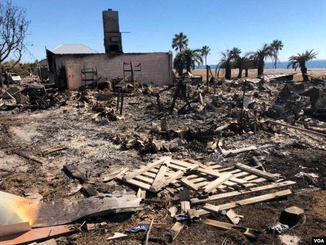 Escena de devastación dejada por el huracán Michael en Mexico Beach. Foto:Jorge Agobian, VOA