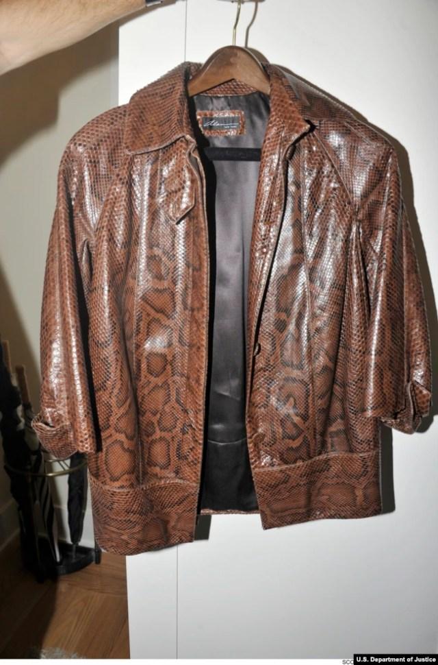 Куртку, яку придбав Манафорт, було представлено в якості доказу Міністерством юстиції СЩА