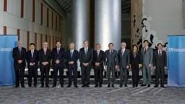 Bộ trưởng Thương mại các nước trong cuộc họp về Hiệp định Đối tác Xuyên Thái Bình Dương TPP tại Atlanta, Georgia, ngày 1/10/2015.