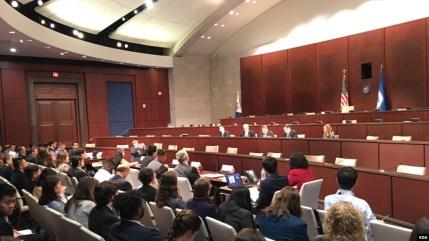 Một buổi điều trần về nhân quyền tại Hạ viện Hoa Kỳ.