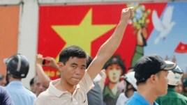 Biểu tình chống Trung Quốc tại TPHCM, ngày 18/5/2014.