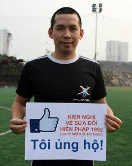 Anh Lã Việt Dũng nói anh chỉ là người dân bình thường lên tiếng về các vấn đề xã hội.