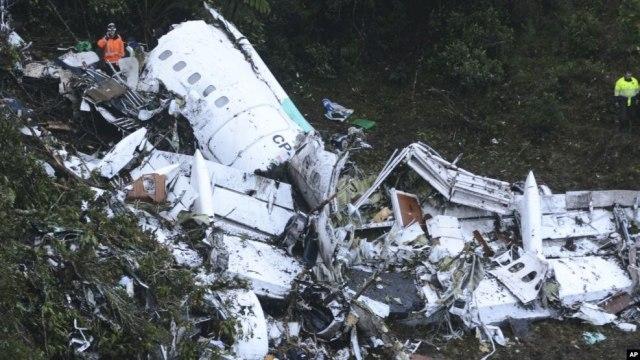 L'avion s'est écrasé vers 22 h heure locale à Cerro Gordo dans la municipalité de L'Union, une région montagneuse, située à environ 50 km de Medellin, en Colombie.