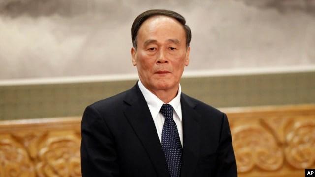 Ông Vương Kỳ Sơn, Bí thư Ủy ban Kiểm tra Kỷ luật Trung ương của đảng Cộng sản Trung Quốc.