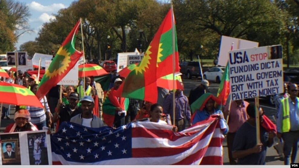 Oromoonni Ameerikaa Jiraatan Diisiitti Hiriira Geggeessan. Mootummaan Itoophiyaa Labsii Atattamaa Dahoo Godhachuudhan Lammiilee Dararuun Isaa Nu Yaachiseera Jedhan