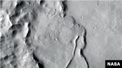 Example of features identified in a deep basin on Mars that show it was influenced by groundwater billions of years ago. (Image credit: NASA/JPL-Caltech/MSSS)