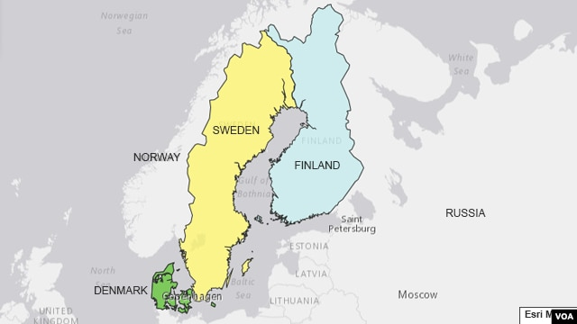 Bản đồ các nước Bắc Âu