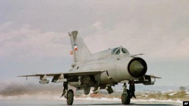 MIG-21 Yugoslavia di Slatina, Kosovo (Foto: dok).
