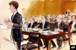 Michael Cohen (ortada sanık masasında) yargılanırken