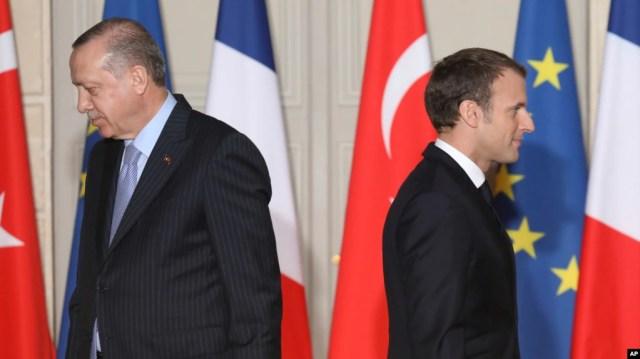 Картинки по запросу macron erdogan