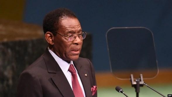 Teodoro Obiang Nguema Mbasogo, Presidente de Guinea Ecuatorial, Nueva York, 24 de septiembre de 2018.