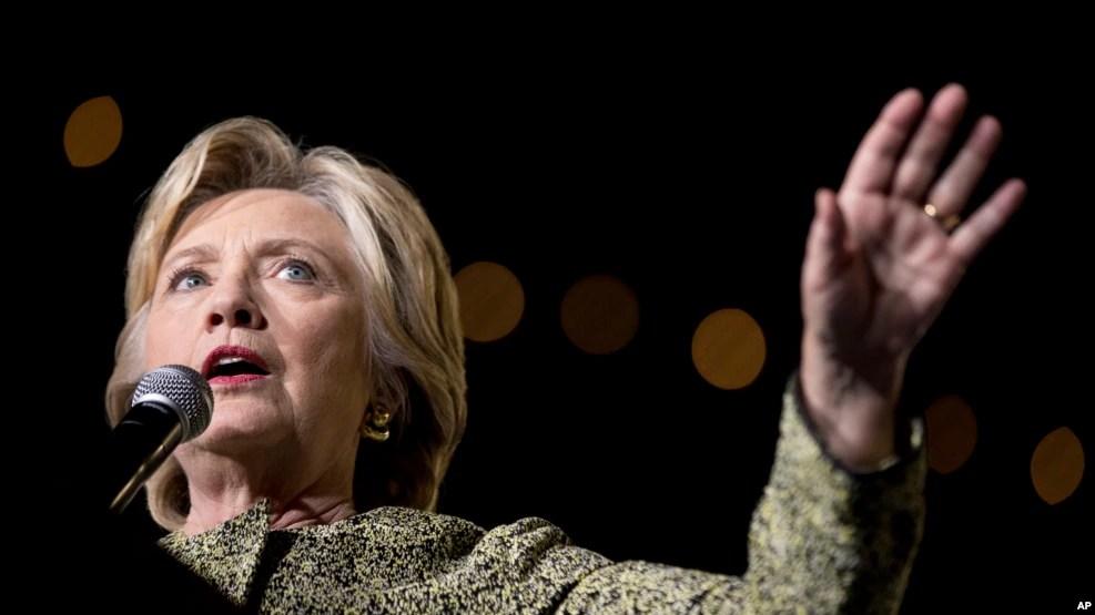 Ứng cử viên tổng thống Hoa Kỳ Hillary Clinton.