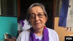 Mirna Blandón, representante de La Corriente, Movimiento Feminista de Nicaragua . (Foto Dalian Ocaña)