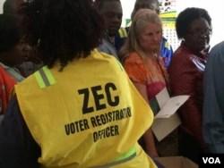 Zimbabwe voter registration 2018