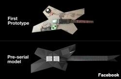Dua prototipe gitar untuk penyandang disabilitas ciptaan Denis Goncharov, pendiri Noli Music. (Foto: Facebook/@Noliforall)