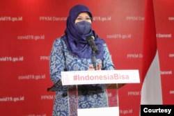 Juru Bicara Vaksinasi COVID-19 Kementerian Kesehatan, Siti Nadia Tarmizi. (Foto: Satgas COVID-19)