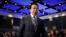 Archivo - El presidente de Interpol, Meng Hongwei, es visto durante el Congreso Mundial de Interpol en Singapur el 4 de julio de 2017.