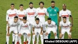 Le onze de départ de Zamalek au Stade international du Caire, dans la capitale égyptienne, le 27 novembre 2020.