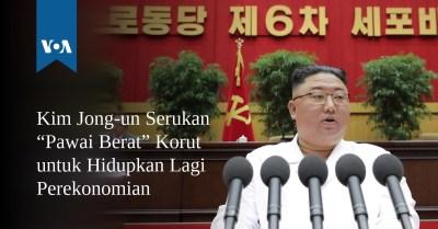 """Kim Jong-un Serukan """"Pawai Berat"""" Korut untuk Hidupkan Lagi Perekonomian"""
