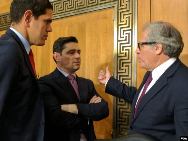 Secretario general de la OEA en el Senado de EE.UU. donde testificó en una audiencia de la Comisión de RR.EE. de esa cámara sobre el colapso del gobierno de la ley en Venezuela. 07/19/17