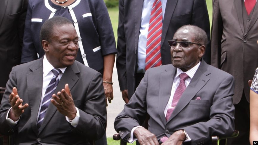 Image result for mnangagwa and Mugabe