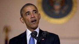 Tổng thống Obama phát biểu tại Nhà Trắng ở Washington, ngày 13 tháng 5 năm 2016.