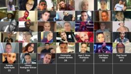 Các nạn nhân vụ xả súng ở Orlando.