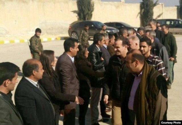 U.S. Presidential Envoy to Anti-Islamic State Coalition Brett McGurk arrived in Kobani over the weekend, officials said Feb. 1, 2016. (Facebook Photo Courtesy of Kurdish official Aldar Khalil)