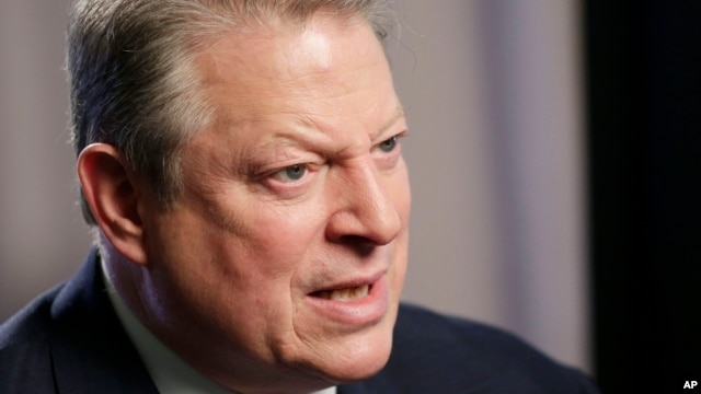 Former US Vice President Al Gore talks during an interview (File photo).