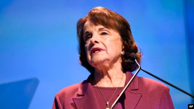 Dianne Feinstein, senador demócrata por California.