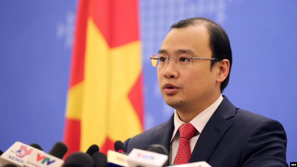 Phát ngôn viên Bộ Ngoại giao Việt Nam Lê Hải Bình.