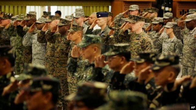 Quân đội Mỹ và Phi trong lễ khai mạc cuộc tập trận chung