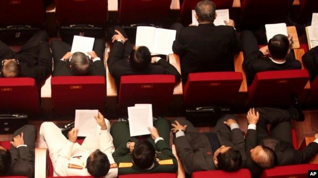 Các đại biểu tham dự lễ khai mạc Đại hội lần thứ 11 của Đảng Cộng sản Việt Nam tại Hà Nội, ngày 12/1/2011.