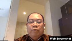 Komisioner Komnas HAM Hairansyah saat menggelar konferensi pers online, Selasa (29/9/2020). Foto: screenshot
