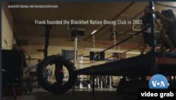 """Sasana pelatihan tinju """"Blackfeet Boxing"""" di Blackfeet, Browning, Montana, AS. (Foto: VOA/Videograb)"""