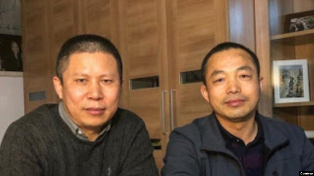 许志永(左)和丁家喜