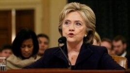 Cựu ngoại trưởng Hoa Kỳ Hillary Clinton trong cuộc điều trần tại ủy ban đặc biệt của Hạ Viện, ngày 22/10/2015.