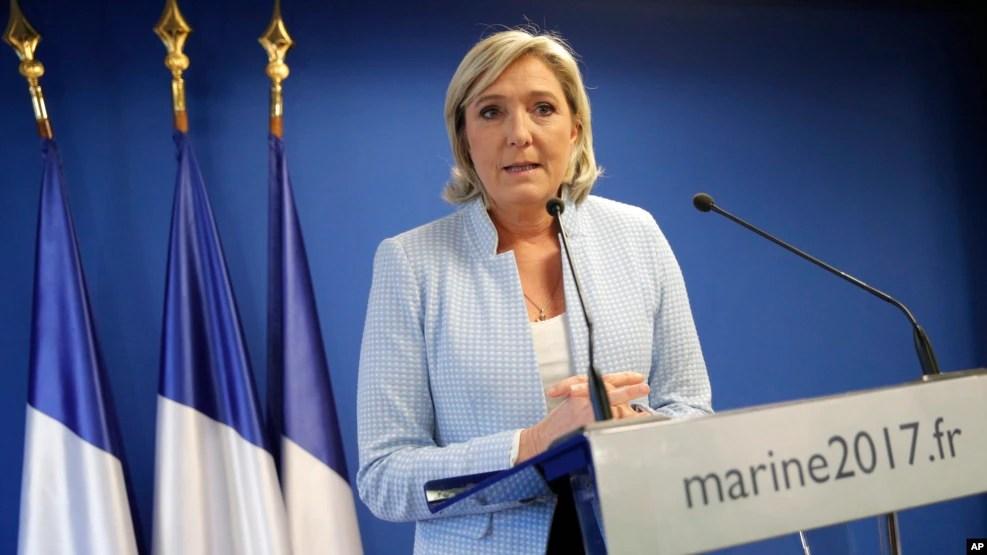 Bà Marine Le Pen, lãnh tụ Mặt trận Quốc gia cực hữu Pháp.