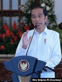 Presiden Jokowi dalam acara Musrembangnas Tahun 2021 di Istana Negara , Jakarta, Selasa (4/5) mengatakan Green dan Blue Economy bisa menjadi kekuatan ekonomi Indonesia di masa depan (Foto: Courtesy/Biro Setpres)